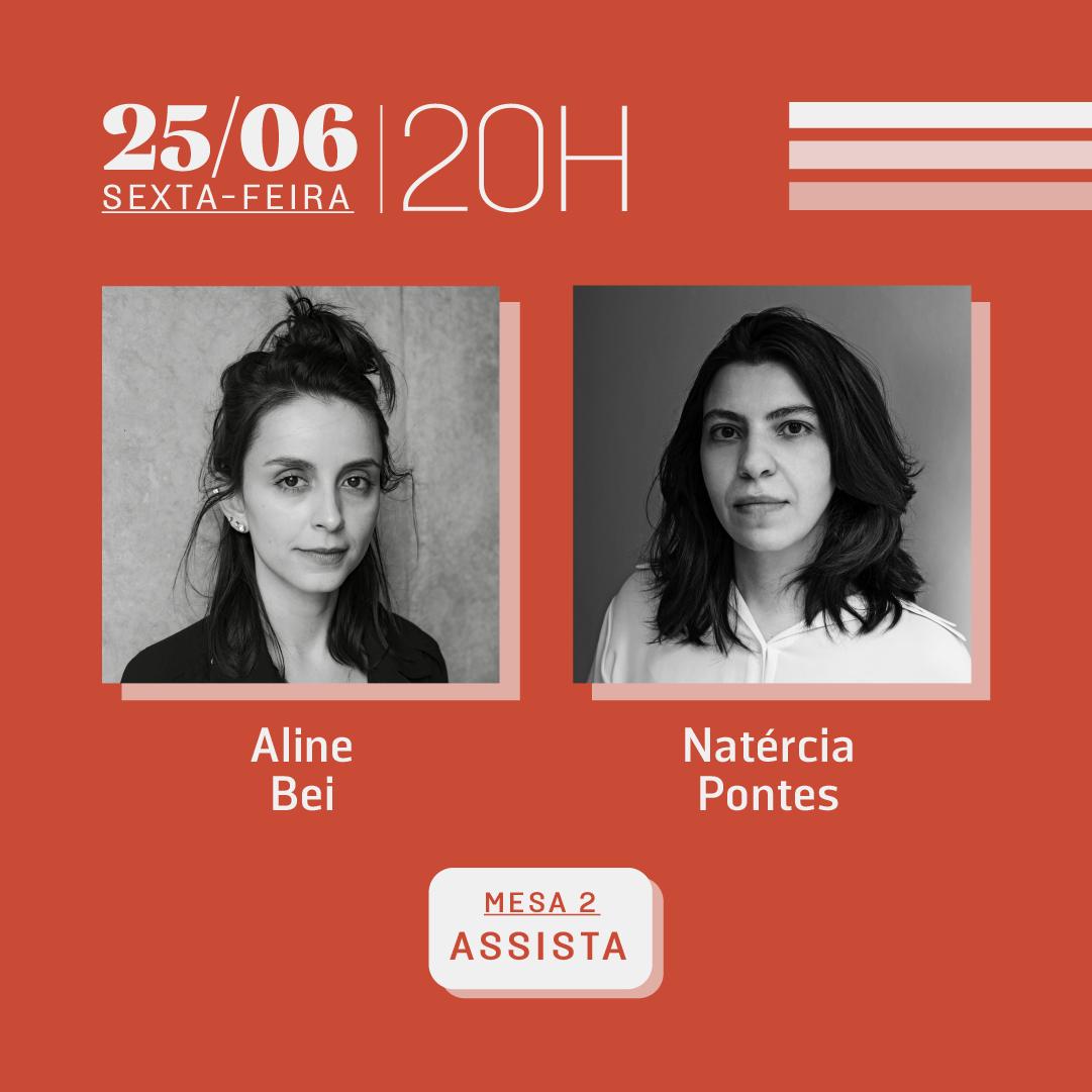 25/06 às 20h | Diálogos literários: Aline Bei e Natércia Pontes